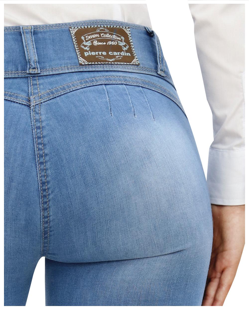 Super Skinny Fit Fashion Jeans Levantapompis Pretina 2 Botones Celeste