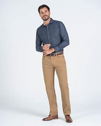 Pantalon casual manhattan slim fit active 5 pocket soft beige