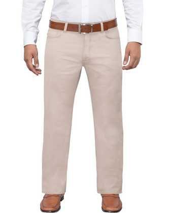 Pantalon twill manhattan slim fit 5 pocket beige
