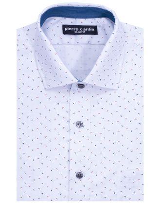 Camisa estampada slim fit elegant white