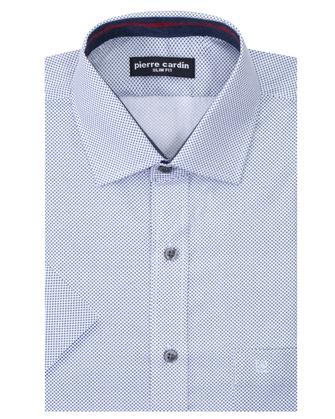 Camisa estampada manga corta slim fit amazing white