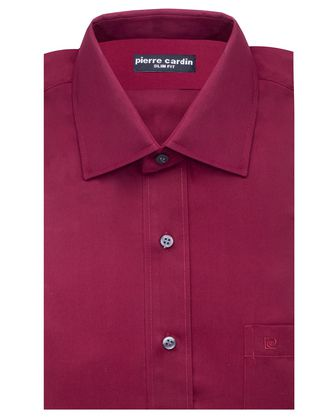 Camisa comfort stretch wine