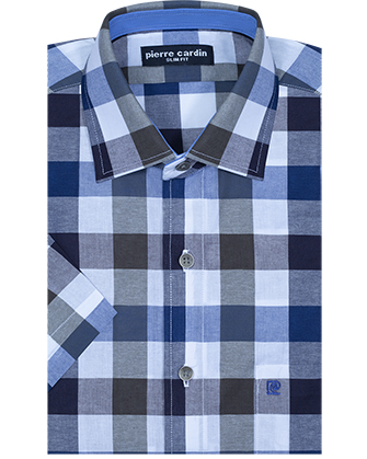 Camisa manga corta slim fit winter plaid