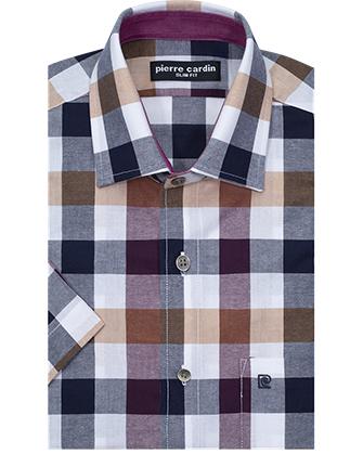 Camisa manga corta slim fit summer plaid