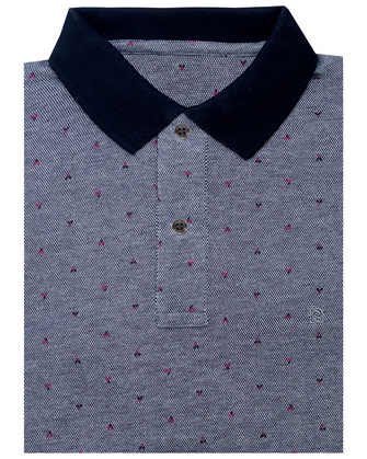 Camisa sport slim fit fancy gray