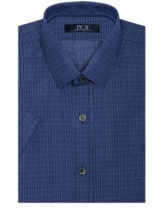 Camisa manga corta denim blue lines