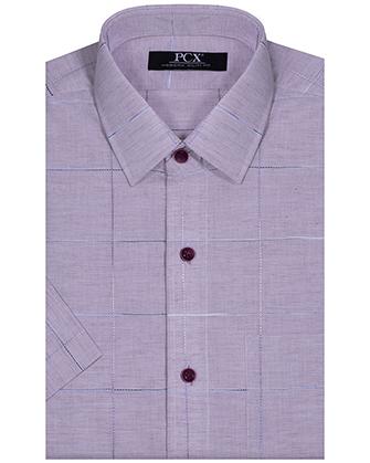 Camisa casual manga corta modern fit purple