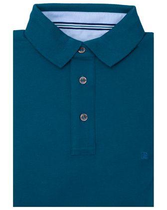 Camisa sport slim fit stretch teal blue