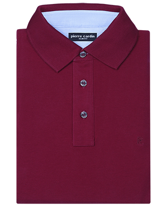 Camisa sport slim fit stretch solid wine