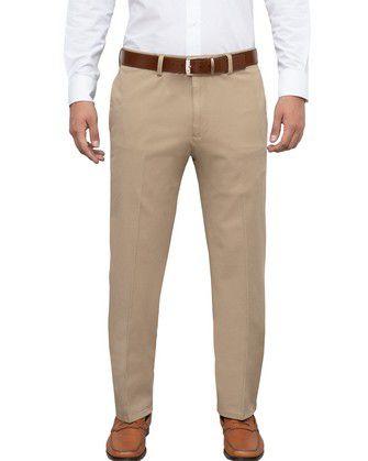 Pantalon twill manhattan regular fit complete comfort beige