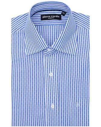 Camisa slim fit blue line